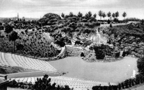 Die Freilichtbühne Mülheim nach ihrer Erbauung, 1936