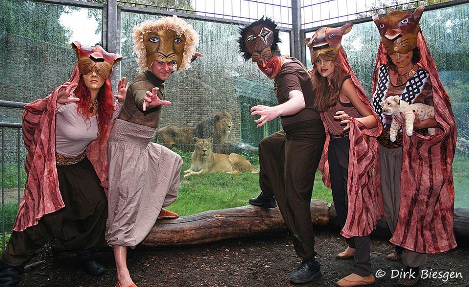 Darsteller im Zoo Duisburg